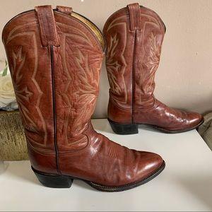 TONY LAMA Vintage 6619 Brown Western Cowboy Boots